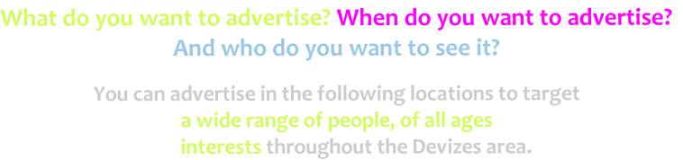 What do you want to advertise? When do you want to advertise?